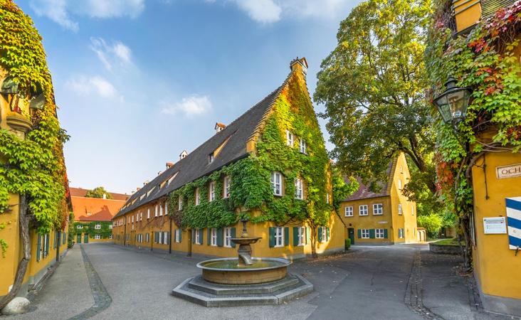 Fugger v gorode Augsburg v Bavarii - Germaniya